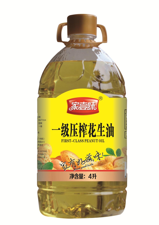 家壹味-傳統壓榨一級特香花生油-4L